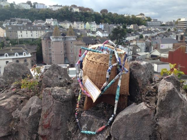Encounters Arts - Museum of Now basket on rocks